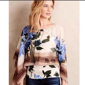 Antro sheet floral print floral top